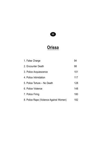 Orissa - People's watch