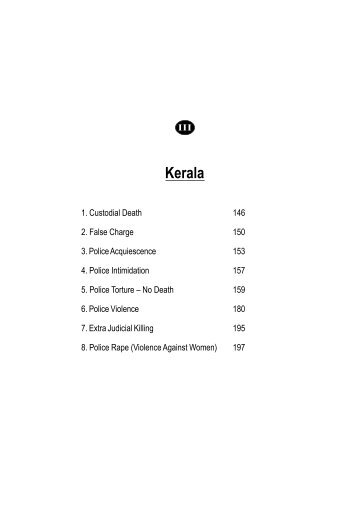 Kerala - People's watch