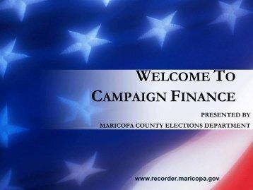 Welcome to Campaign Finance - City of Peoria, Arizona