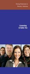 Licensing & Sales Tax - City of Peoria, Arizona