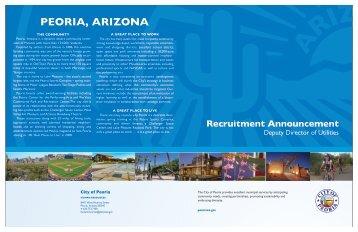 PWU Recruitment Brochure Laser - City of Peoria, Arizona