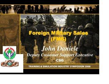 Foriegn Military Sales_Daniele - PEO STRI - U.S. Army