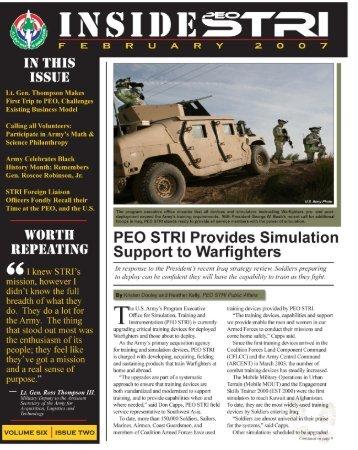 NSIDE§TRI - PEO STRI - U.S. Army
