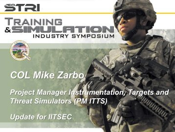 COL Mike Zarbo - PEO STRI - U.S. Army