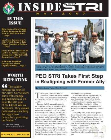 Inside STRI May 2007 (PDF) - PEO STRI - U.S. Army