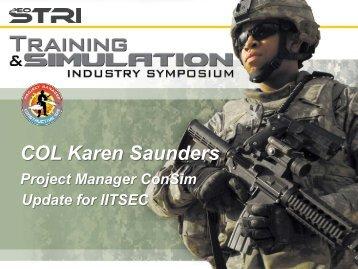 COL Karen Saunders - PEO STRI - U.S. Army