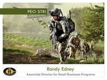 Mr. Randy Edney - PEO STRI