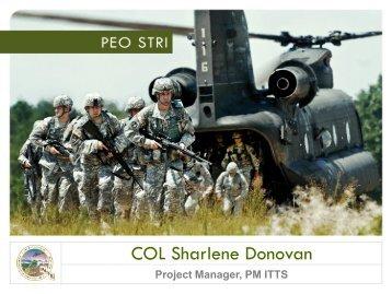 COL Sharlene Donovan, USA - PEO STRI