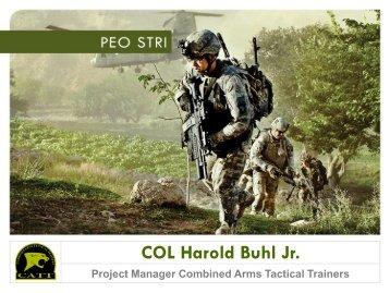 COL Harry Buhl, USA - PEO STRI - U.S. Army