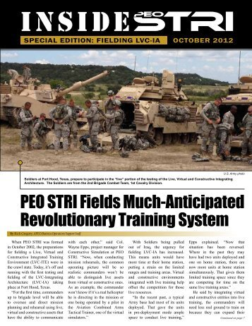 PEO STRI Fields Much-Anticipated Revolutionary Training System