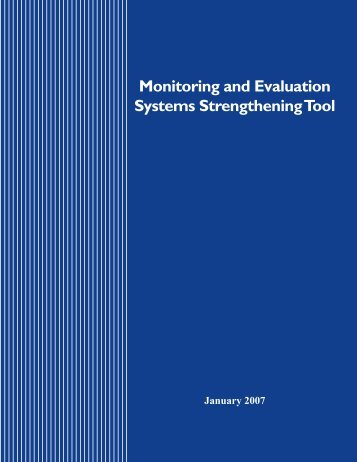 Monitoring and Evaluation Systems Strengthening Tool - Pepfar