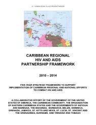 caribbean regional hiv and aids partnership framework - Pepfar