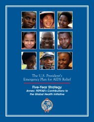 Annex: PEPFAR's Contributions to the Global Health Initiative