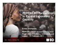 PEPFAR/BD Partnership to Expand Laboratory Capacity
