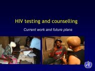 HIV Testing and Counseling - PEPFAR