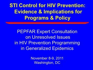 Treatment of Sexually Transmitted Infections. - Pepfar