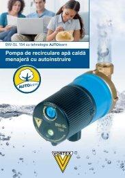 Pompa de recirculare apă caldă menajeră cu autoinstruire