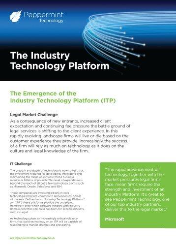 The Industry Technology Platform - Peppermint Technology