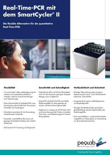 Real-Time-PCR mit dem SmartCycler® II - Peqlab