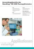 Vorteile des NanoDrop® ND-3300 Fluorospektrometers - Peqlab - Seite 5