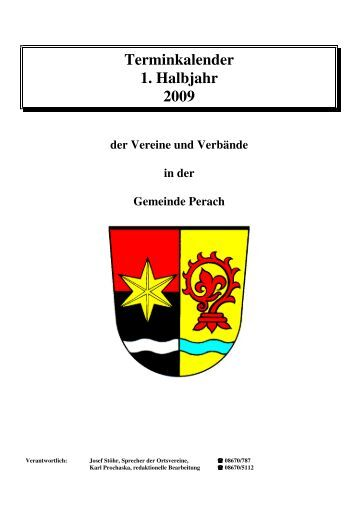 Terminkalender 1. Halbjahr 2009 - Perach