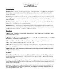 List of plants found at Condor Cliffs - The Peregrine Fund