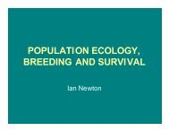 Studying Population Ecology - The Peregrine Fund