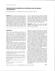 Ecological niche modelling and prioritizing areas for species ...
