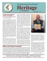 Heritage Spring 2009 - The Peregrine Fund