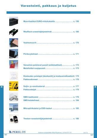 Varastointi, pakkaus ja kuljetus - Perel