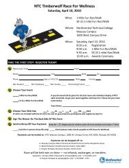 NTC Timberwolf Race For Wellness - Performance Timing, LLC