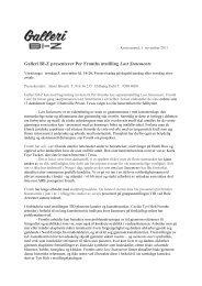 Galleri BI-Z presenterer Per Fronths utstilling Last Statements