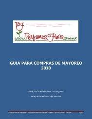 GUIA PARA COMPRAS DE MAYOREO 2010 - Perfumes Finos ...