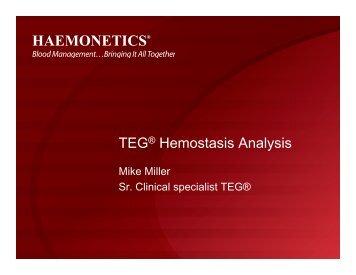 TEG® Hemostasis Analysis - Perfusion.com
