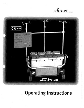 Stockert SIII Operations Manual (PDF) - Perfusion.com