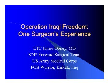 Operation Iraqi Freedom - Perfusion.com