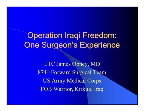 Operation Iraqi Freedom - Perfusion.com