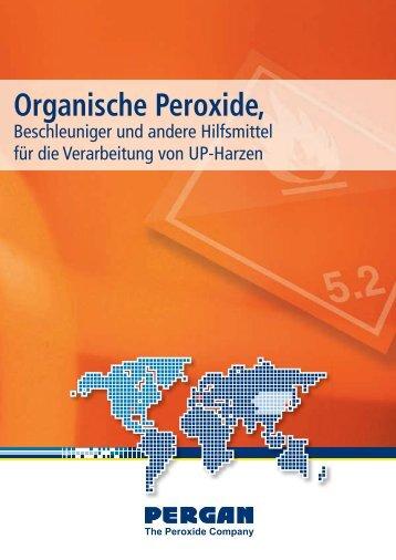 Organische Peroxide Beschleuniger und andere ... - Pergan GmbH
