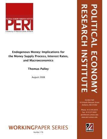 political economy research institute - PERI - University of ...
