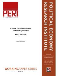 POLITICAL ECONOMY RESEARCH INSTITUTE