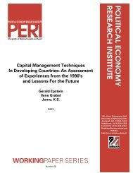 Working Paper, Series - Political Economy Research Institute ...