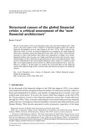 Structural causes of the global financial crisis - PERI - University of ...