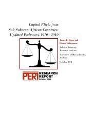 Capital Flight from Sub-Saharan African Countries - Political ...