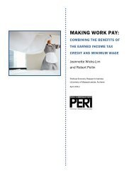 MAKING WORK PAY: - PERI - University of Massachusetts Amherst