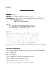 Curriculum Vitae Date of birth - Political Economy Research Institute ...