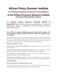 African Policy Summer Institute (APSI) - Political Economy Research ...