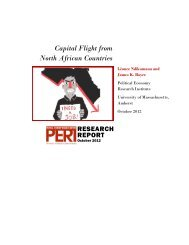 Capital Flight from North African Countries - PERI - University of ...