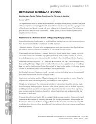 Jim Campen, Reforming Mortgage Lending - Political Economy ...