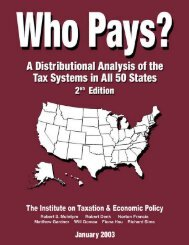 Who Pays: A Distributional Analysis of the Tax Systems in All 50 States