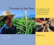 Charles C. Mann, Diversity on the Farm - PERI - University of ...